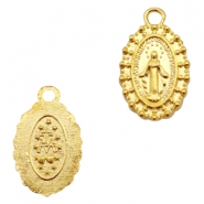 Charms TQ metal oval Maria Gold (Nickel Free)