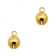 Charms TQ metal little bell 8mm Gold (Nickel Free)