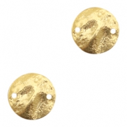 Charms TQ metal connector flat round 15mm Gold (Nickel Free)