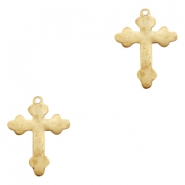 Charms TQ metal cross Gold (Nickel Free)