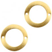 Charms TQ metal connector ring 38mm Gold (Nickel Free)