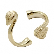 Findings TQ metal bracelet cobra Ø9.5x5.1mm Gold (Nickel Free)