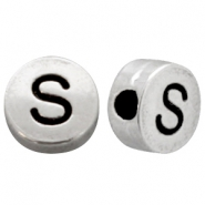 Metal-look beads letter S Antique Silver