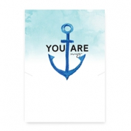 "Jewellery cards ""You are my anchor"" White-Blue"