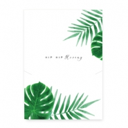"Jewellery cards ""Hip hip hooray"" White-Green"