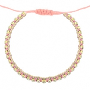 Ready-made Bracelets strass Dark Peached Pink-Crystal
