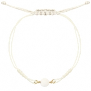 Ready-made Bracelets stone Off White-Light Gold
