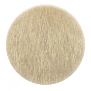Faux fur cabochons 35mm Light Brown