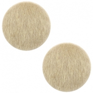 Faux fur cabochons 20mm Light Brown