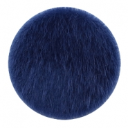 Faux fur cabochons 35mm Dark Blue