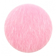 Faux fur cabochons 35mm Light Pink
