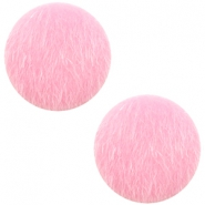 Faux fur cabochons 12mm Light Pink