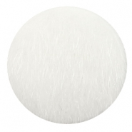Faux fur cabochons 35mm White