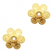 DQ European metal beads flower Gold (nickel free)