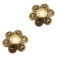 DQ European metal beads flower Antique Bronze (nickel free)
