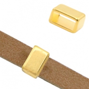 DQ European metal sliders rectangle Ø10.2x4.4mm Gold (nickel free)