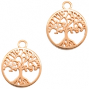 DQ European metal charms tree Rose Gold (nickel free)