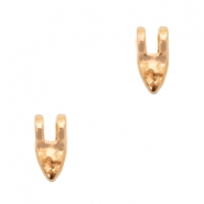 DQ European metal charms tooth Rose Gold (nickel free)