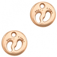 DQ European metal charms feet Rose Gold (nickel free)