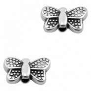 DQ European metal beads butterfly Antique Silver (nickel free)