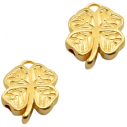 DQ European metal beads clover Gold (nickel free)