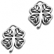 DQ European metal beads clover Antique Silver (nickel free)