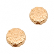 DQ European metal beads disc flower Rose Gold (nickel free)