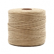 Nylon S-Lon cord 0.6mm Beige Brown