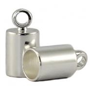 DQ end cap 4mm  DQ Silver durable plating