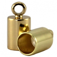 DQ end cap 4mm  DQ Gold durable plating