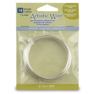 14 Gauge Artistic Wire Silver Plated Tarnish Resistant Silver