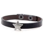 Ready-made bracelets stud star Metallic Black