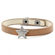 Ready-made bracelets stud star Metallic Brown Copper