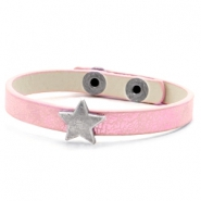 Ready-made bracelets stud star Metallic Rose Pink