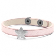 Ready-made bracelets stud star Metallic Linen Rose