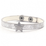 Ready-made bracelets stud star Metallic Silver Grey