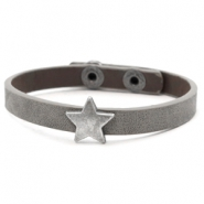 Ready-made bracelets stud star Dark Grey