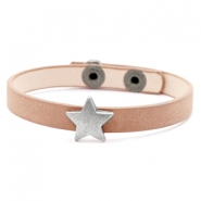 Ready-made bracelets stud star Light Brown