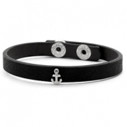 Ready-made bracelets stud anchor Black