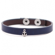 Ready-made bracelets stud anchor Dark Blue
