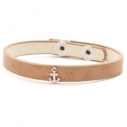 Ready-made bracelets stud anchor Light Brown