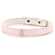 Ready-made bracelets stud anchor Linen Rose Silver