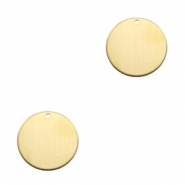 ImpressArt stamping blanks charms 25mm Brass Light Gold