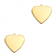 ImpressArt stamping blanks charms heart 16mm Brass Light Gold
