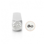 ImpressArt design stamps Infinity Heart 6mm Silver