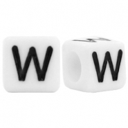 Acrylic letter beads letter W White