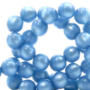 Super Polaris beads round 6 mm River Blue