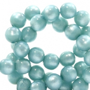 Super Polaris beads round 6 mm Eton Blue