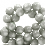 Super Polaris beads round 8 mm Pewter Grey