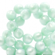 Super Polaris beads round 8 mm Gosssamer Green